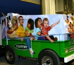 US Cellular Coliseum, Bloomington, Illinois.  Zamboni machines after vinyl graphic wrap from GDS Professional Displays, sent from Harvey Meister #309-829-3298 Project Sponsor was Country Insurance; used 3m controlltac cast vinyl with overlam.