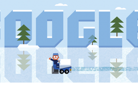 On January 16th 2013, Google recognized Frank Zamboni on what would have been his 112th birthday by creating an interactive Google Doodle.   click here  You must have the most current version of Internet Explorer, Firefox, or Chrome in order to play the game.
