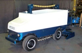 A Zamboni Company restoration of a Model K No. 757 with the vintage paddle and chain technology.