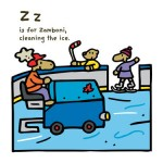 ABC of Canada, Z is for Zamboni clearing the ice