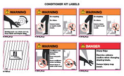 Conditioner Safety Labels