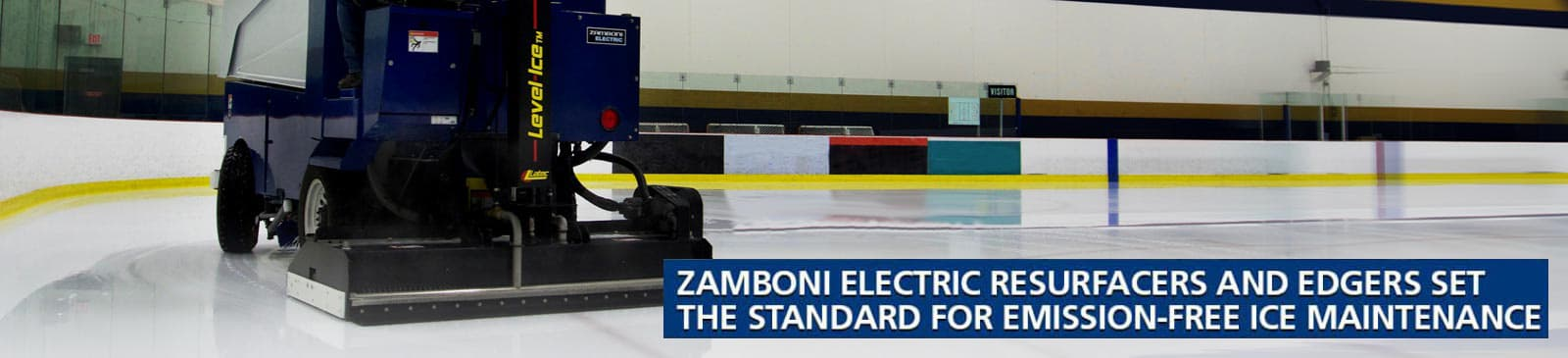 Zamboni electric resurfacers and edgers set the standard for emission-free ice maintenance
